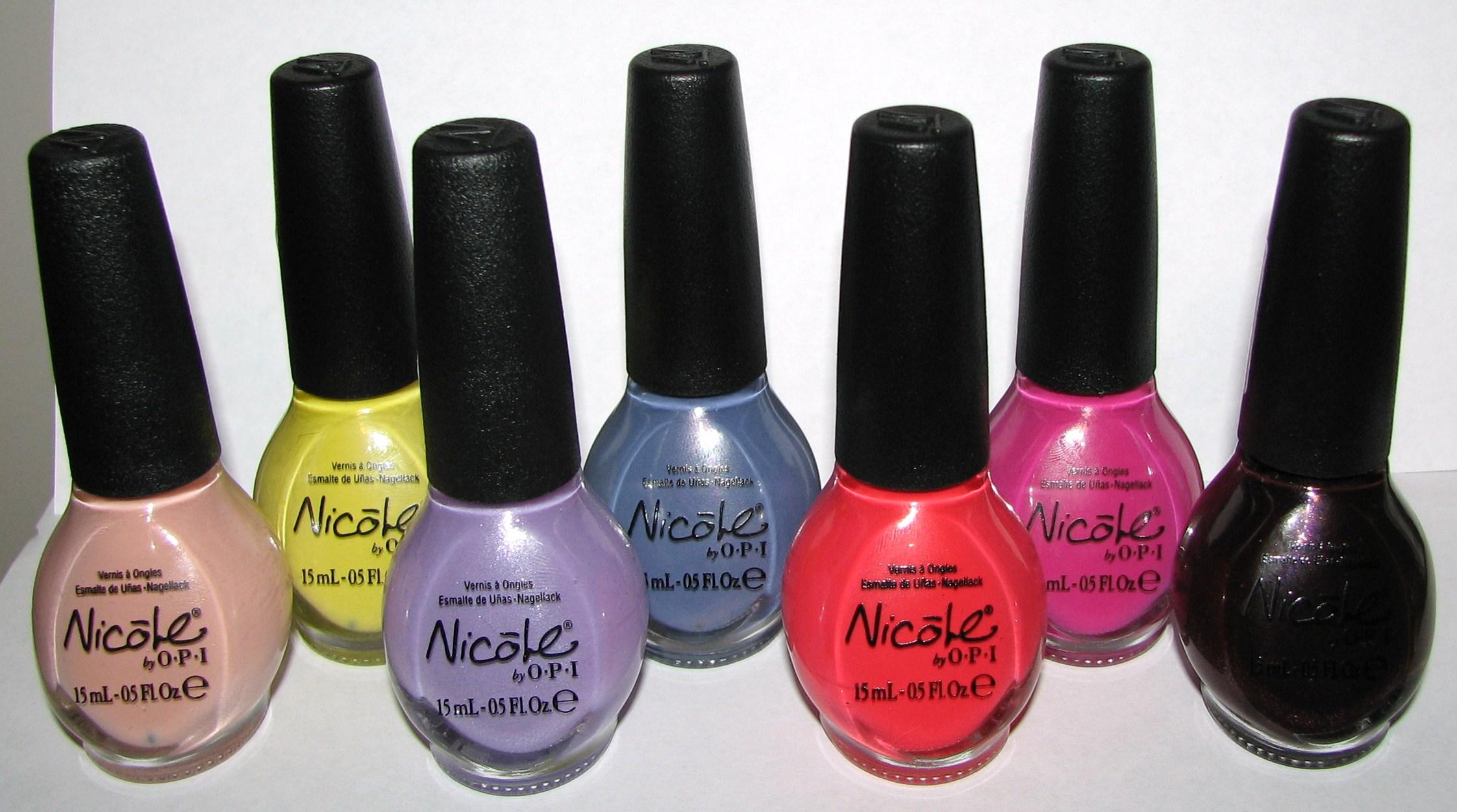 nicole by opi kardashian kolors nail polish - cvs exclusives spring 2012