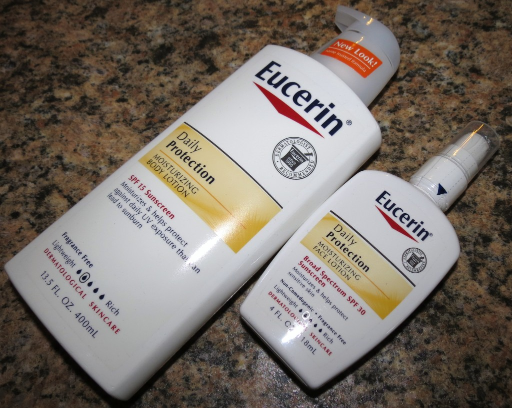 Eucerin Daily Protection Moisturizing Body SPF 15 and Daily Protection Moisturizing Face Lotion SPF 30 Review