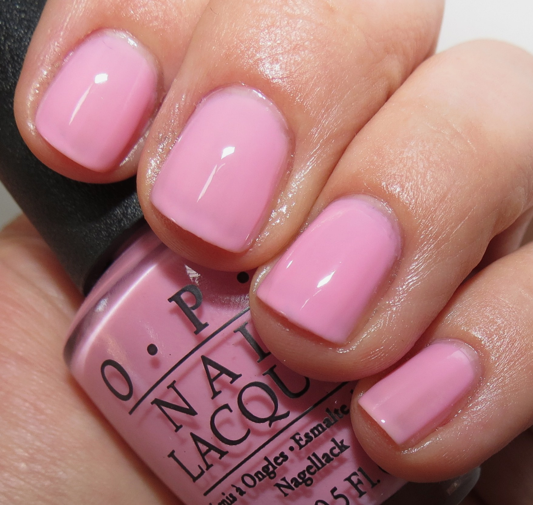 Pink And Blue Nail Polish: OPI I Think In Pink & You Glitter Be Good To Me Nail