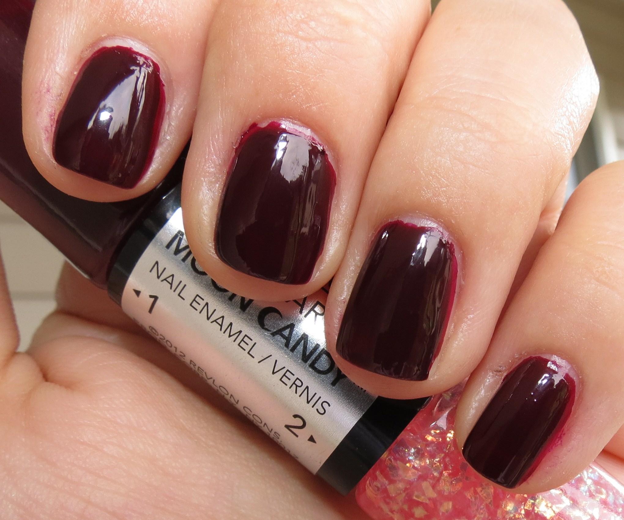 Revlon Satellite Nail Art Moon Candy Nail Enamel Swatches Amp Review Blushing Noir