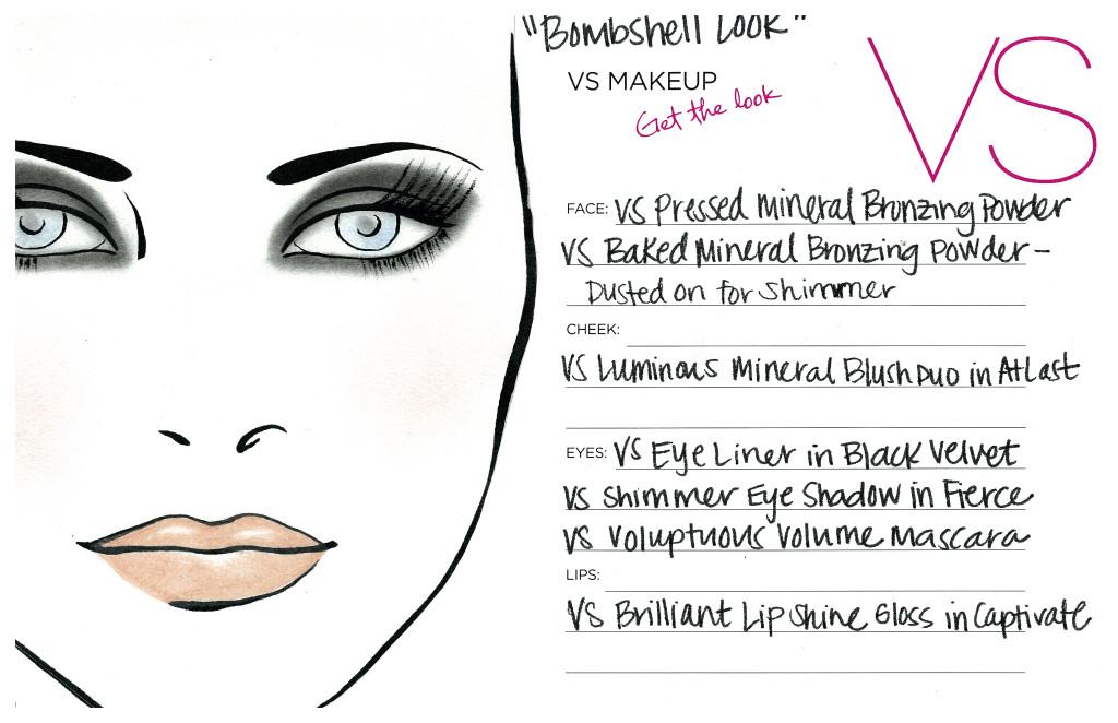 NYE Bombshell Look Face Chart