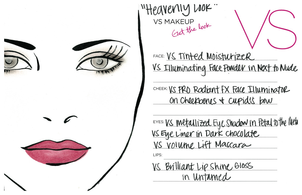 NYE Heavenly Look Face Chart
