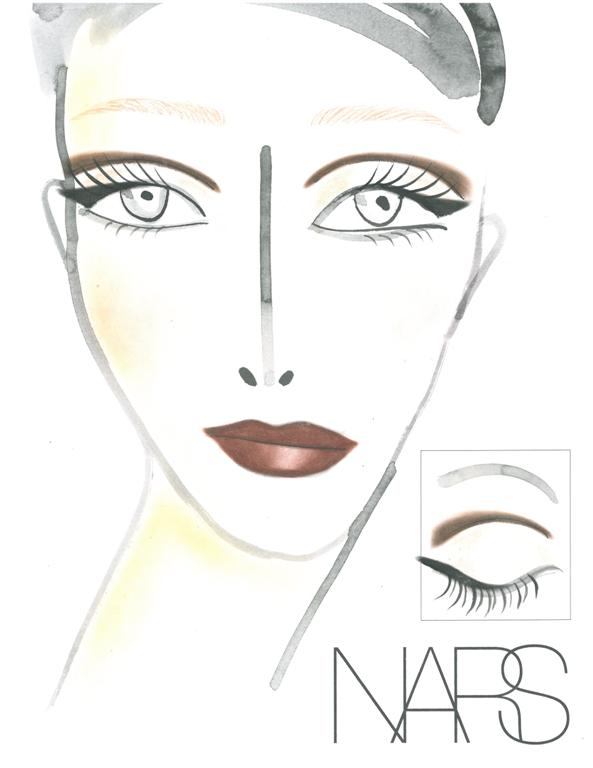 NARS AW13 Carmen Marc Valvo face chart - lo res