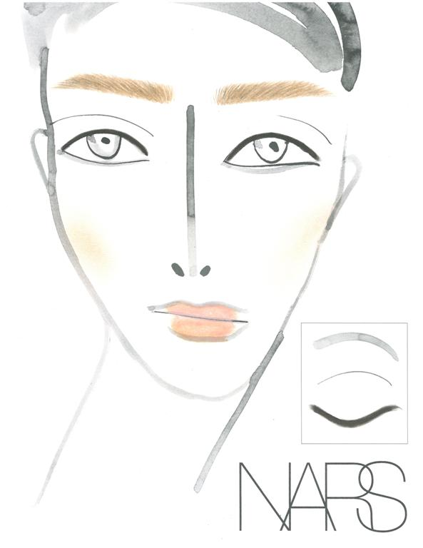 NARS AW13 Christopher Kane face chart - lo res