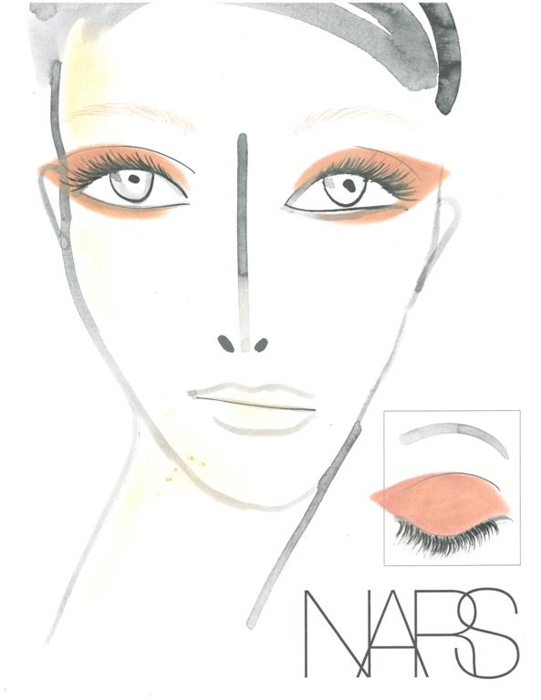 NARS AW13 Creatures of the Wind face chart - lo res