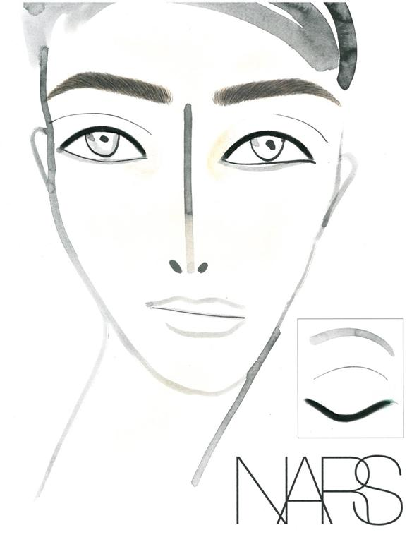 NARS AW13 Erdem face chart - lo res