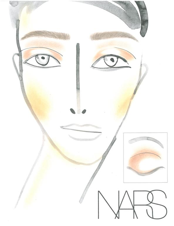 NARS AW13 Helmut Lang face chart - lo res