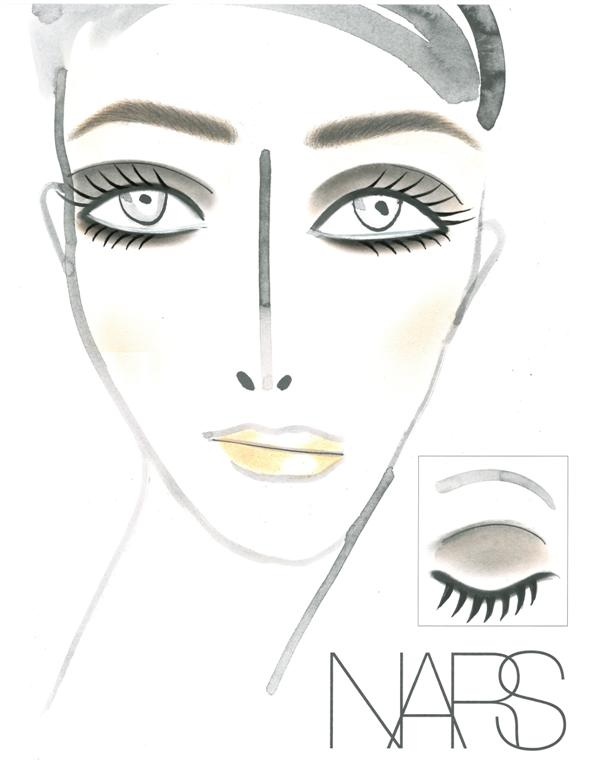 NARS AW13 Marc Jacobs face chart - lo res