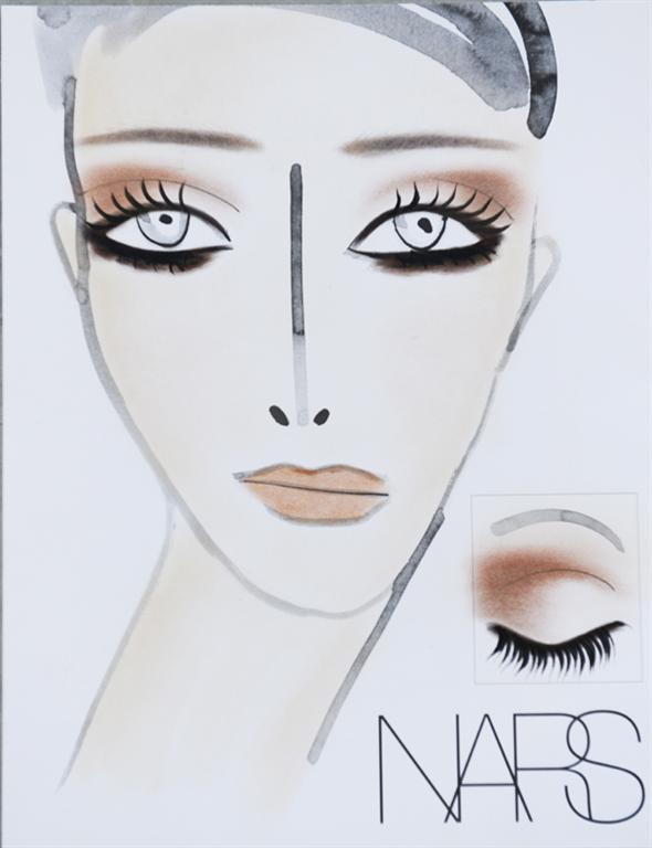 NARS AW13 Rodarte face chart - lo res