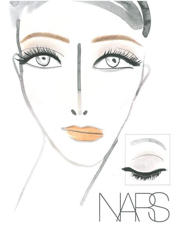 NARS AW13 Tanya Taylor Face Chart - lo res