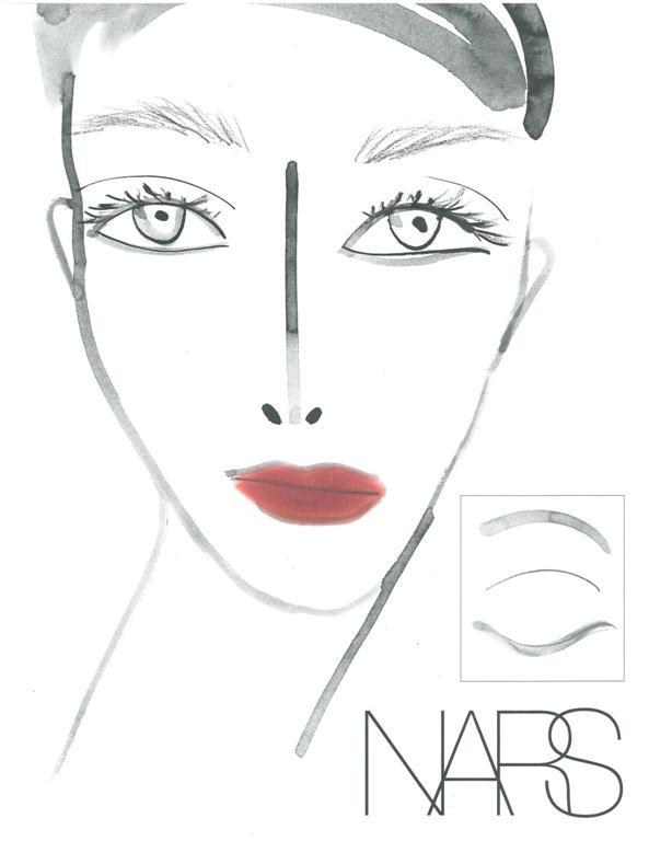 NARS Tia Cibani AW13 Face Chart - lo res