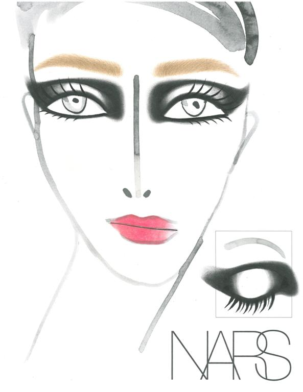 NARS AW13 Roland Mouret face chart - lo res