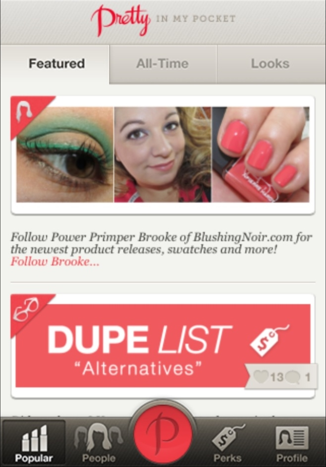 Blushing Noir is this weeks Pretty in my Pocket Featured Profile!