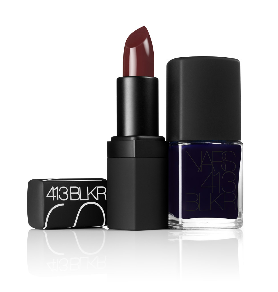 NARS 413 BLKR nail polish lipstick group shot - hi res