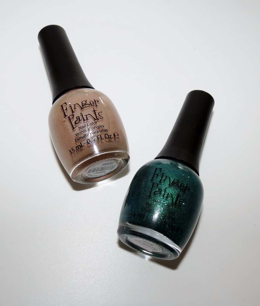 ALU FingerPaints Bare No Secrets & Our Tips Are Tealed Nail Polish
