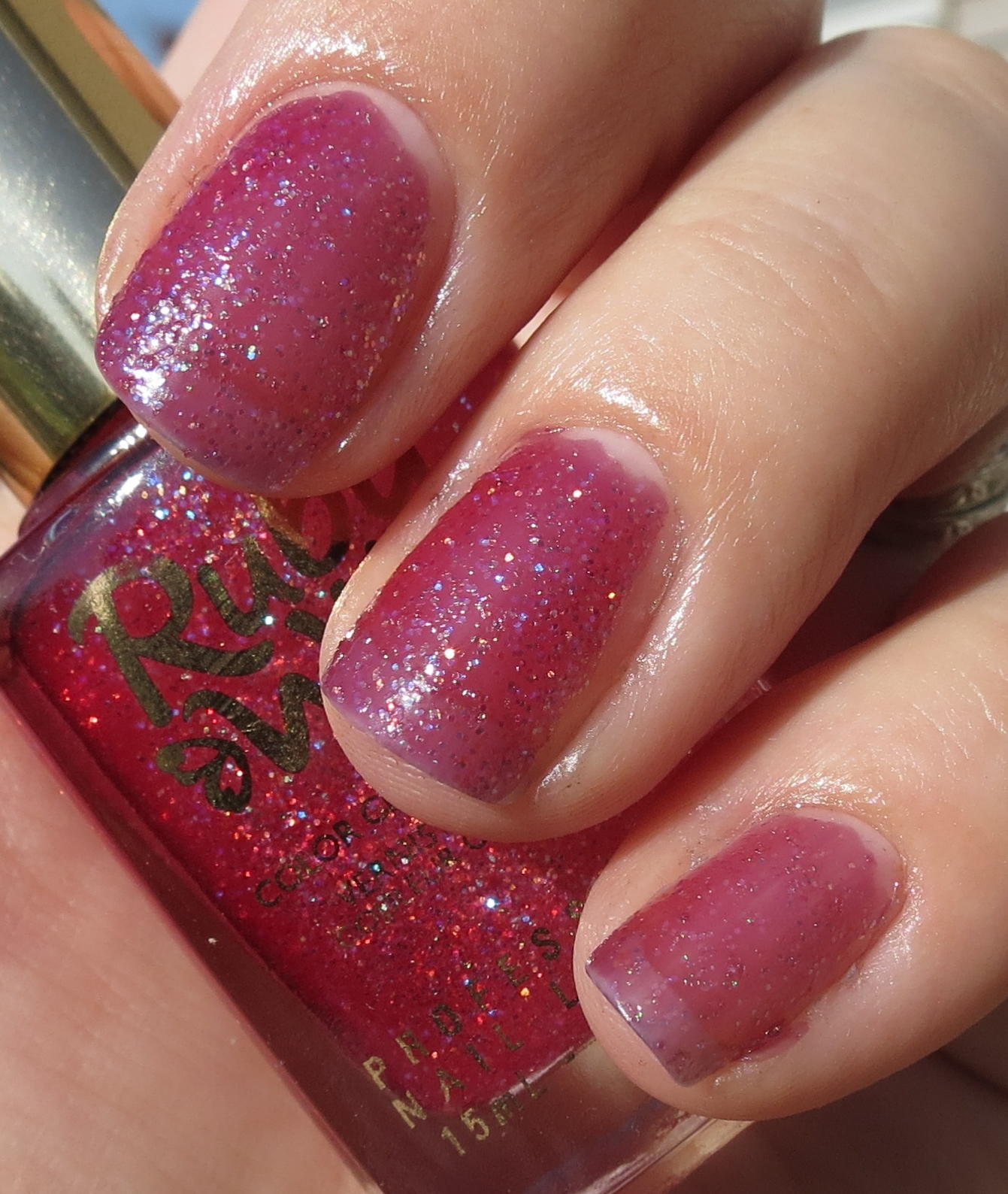 Ruby Nail Polish: Ruby Wing CINNAMON BUN & ROSE Color Changing Nail Polish
