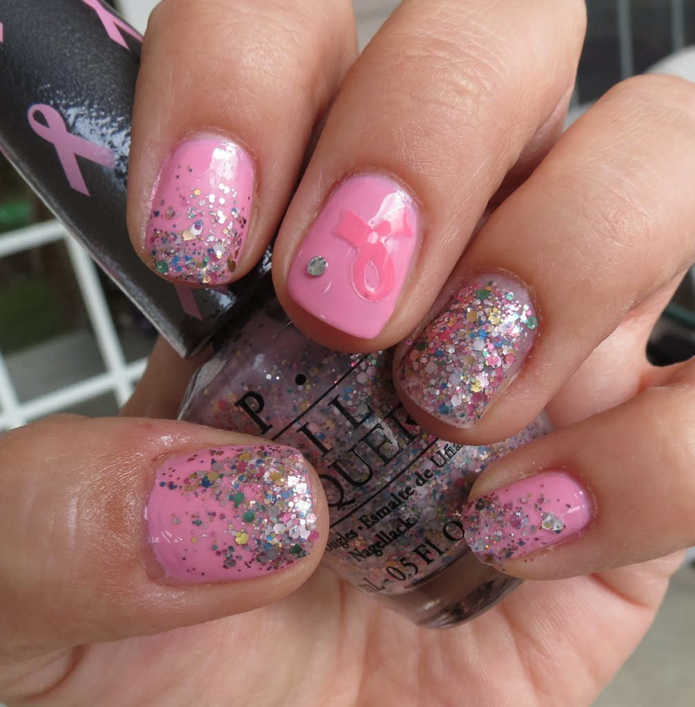 OPI Pink-ing of You, More than a Glimmer Nail Polish Swatches & Review - Pink of Hearts 2013