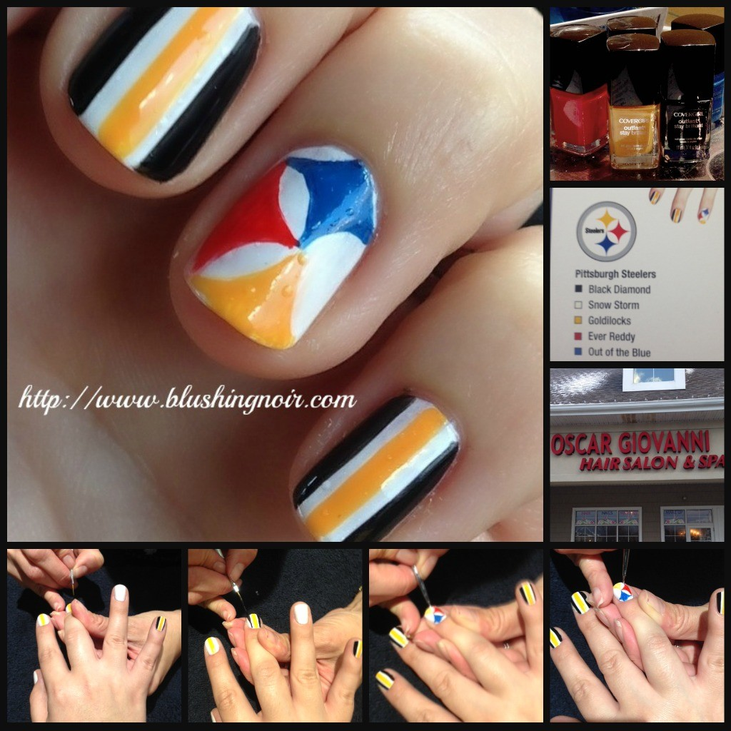 CoverGirl Pittsburgh Steelers #fanicure #nailgating