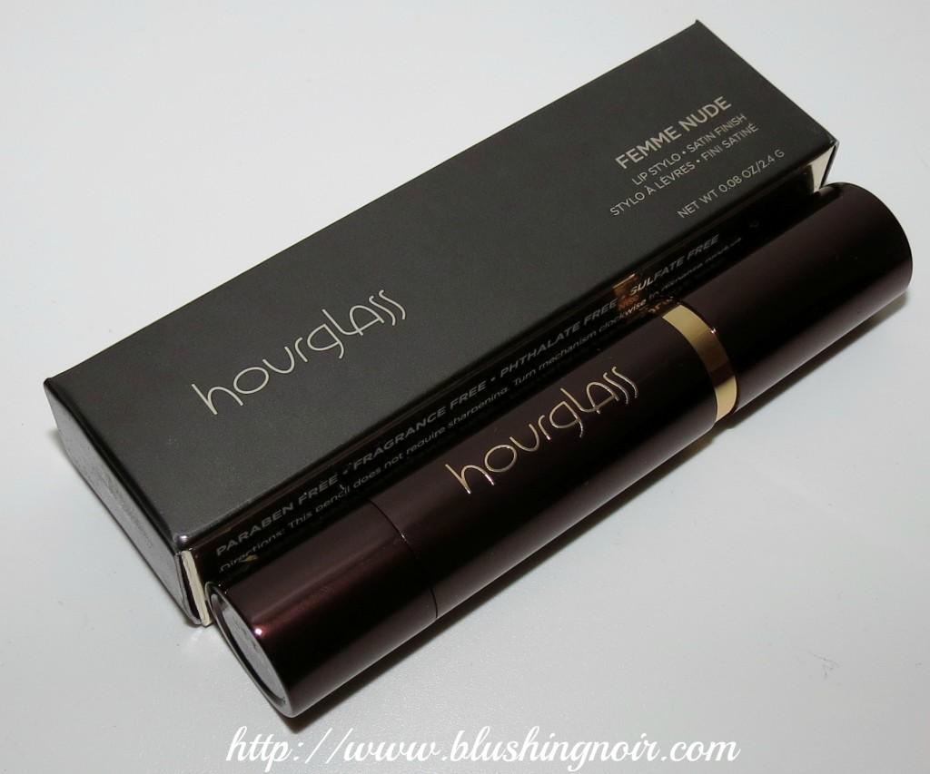 Hourglass femme nude lip stylo packaging