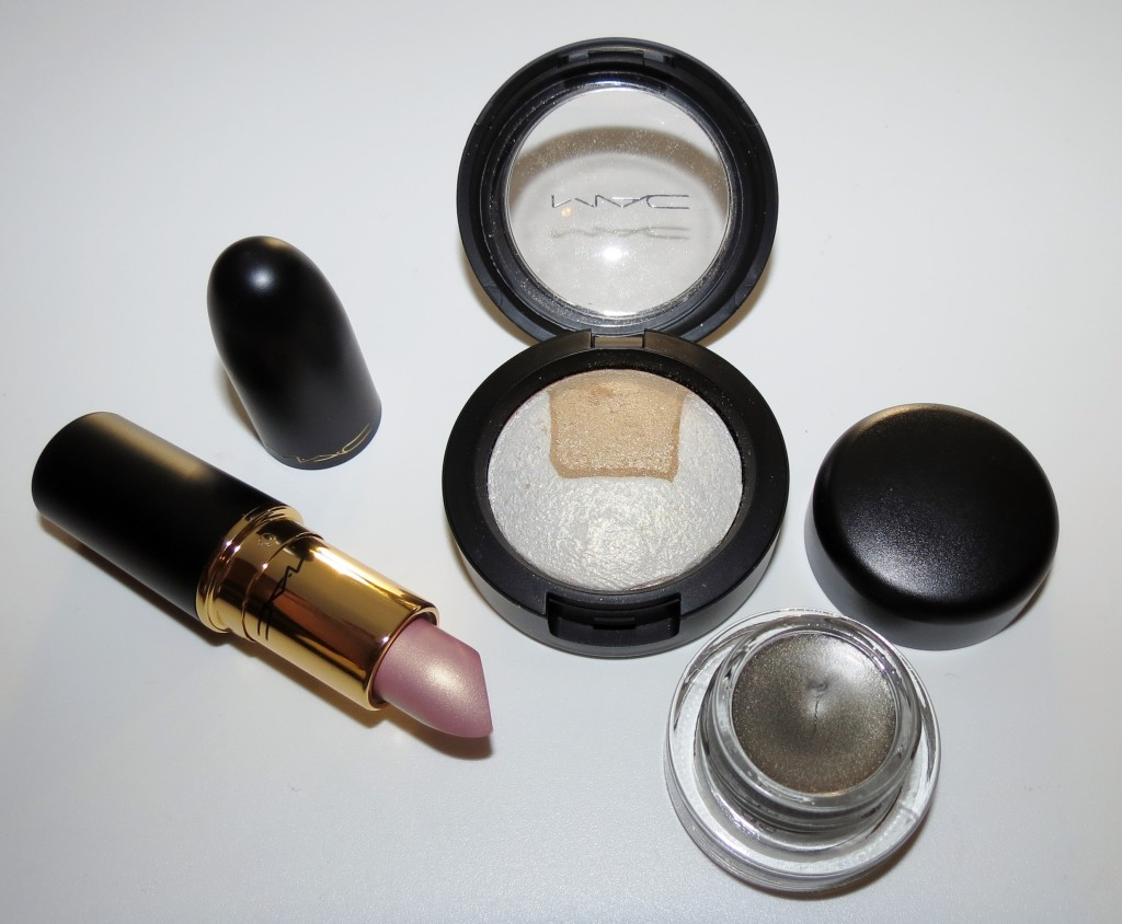 MAC Captivating Mineralize Eye Shadow, Stares & Speculation Fluidline, You've Got It Lipstick