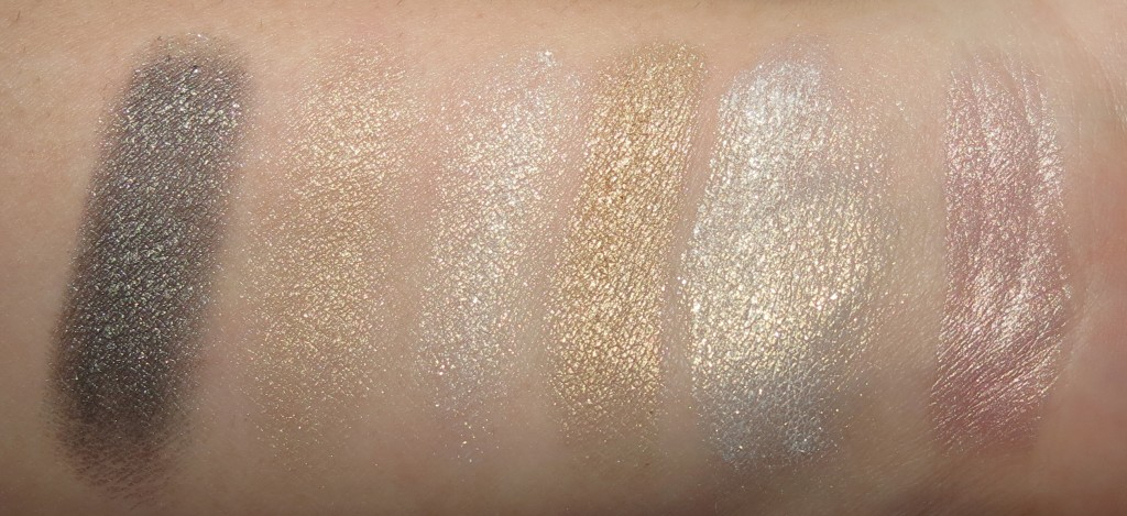 MAC Captivating Mineralize Eye Shadow, Stares & Speculation Fluidline, You've Got It Lipstick Swatches