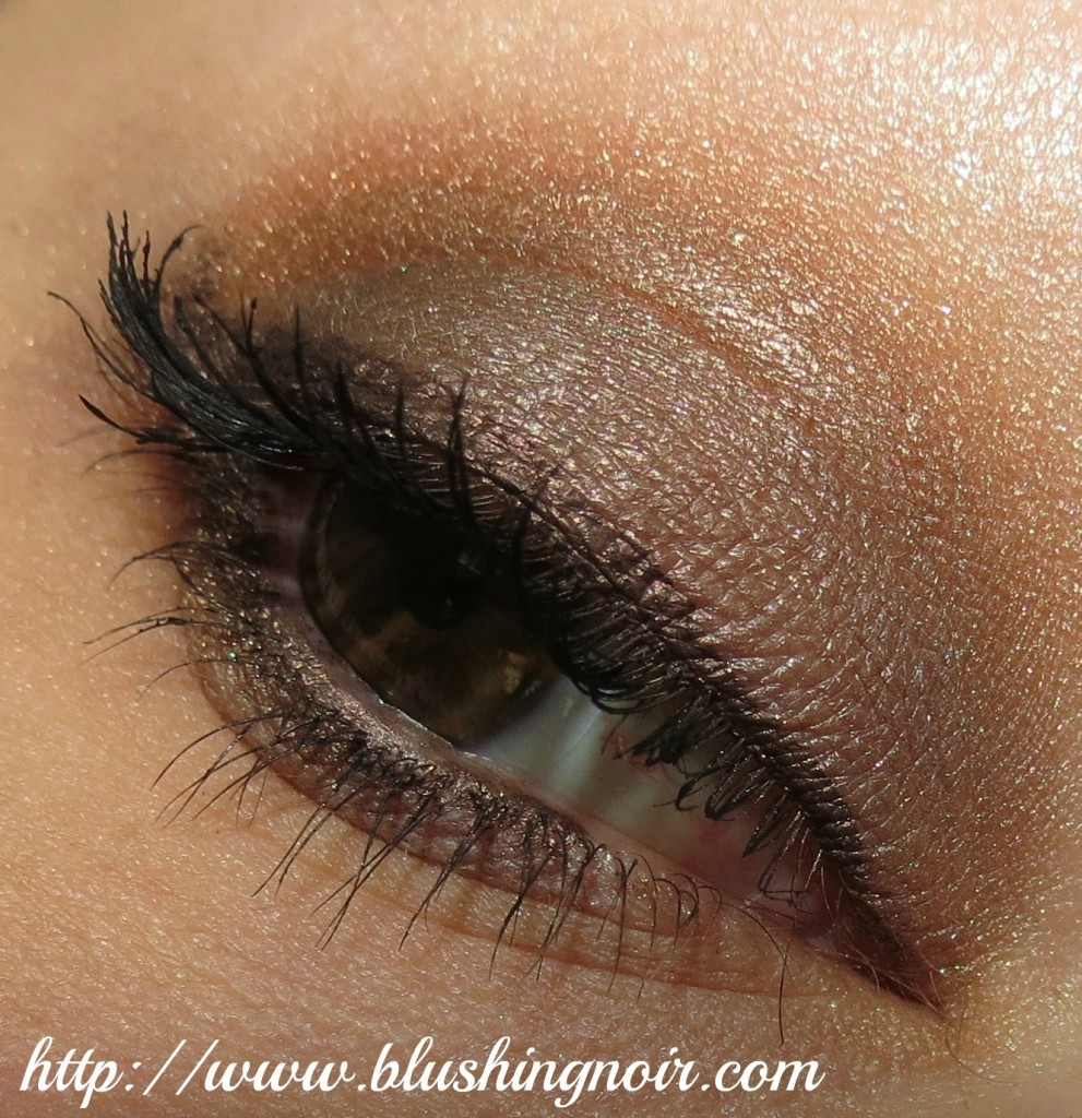 MAC Stroke of Midnight Warm Eyes Palette EOTD
