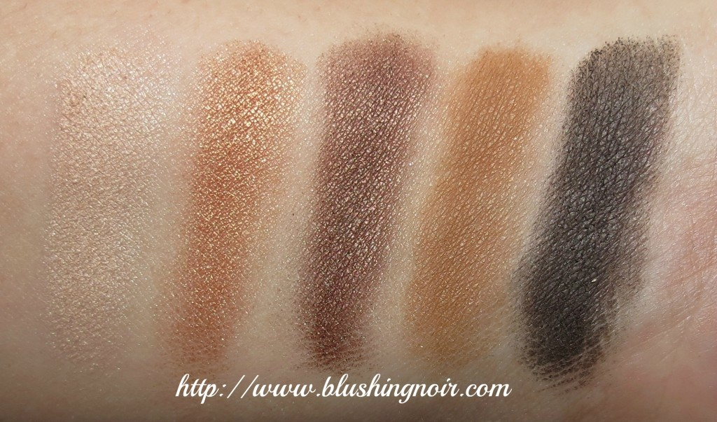 MAC Stroke of Midnight Warm Eyes Palette swatches