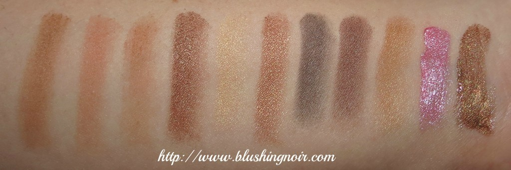 NYX Bronze Smokey Look Kit Swatches