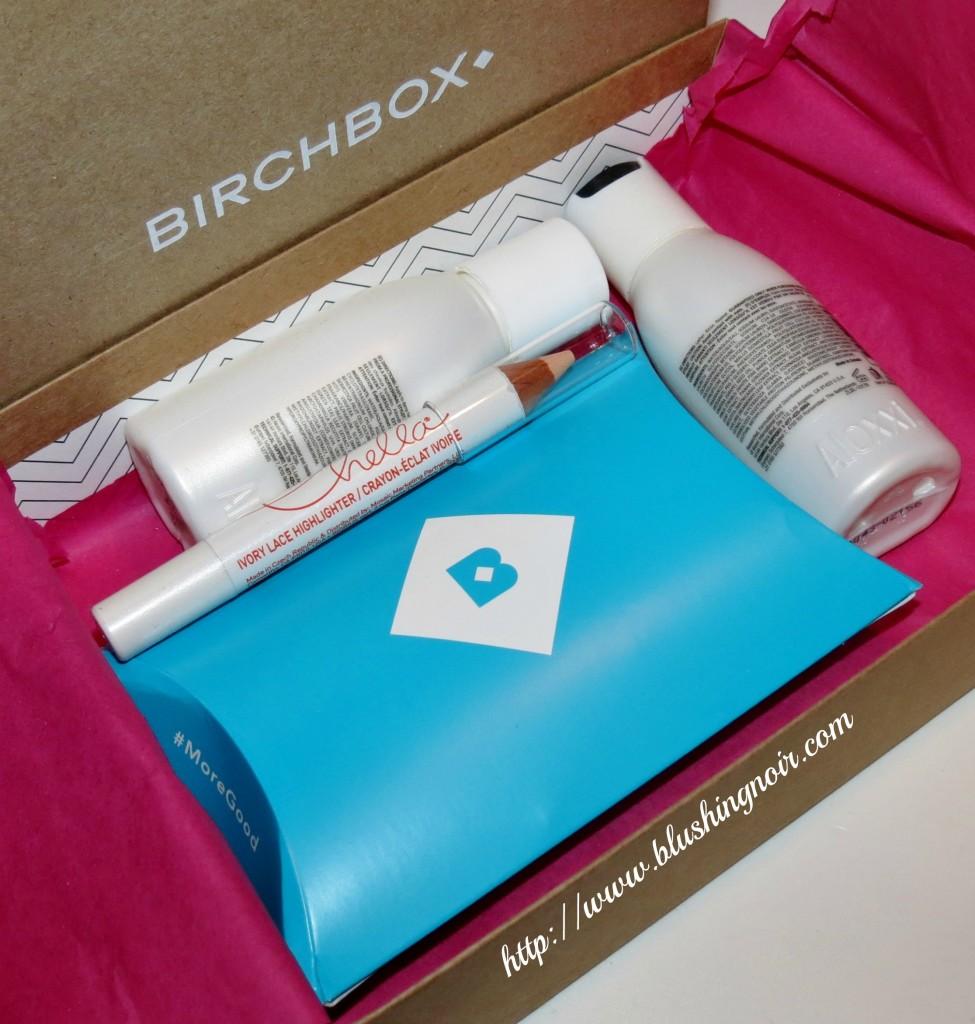 November 2013 Birchbox Contents open box