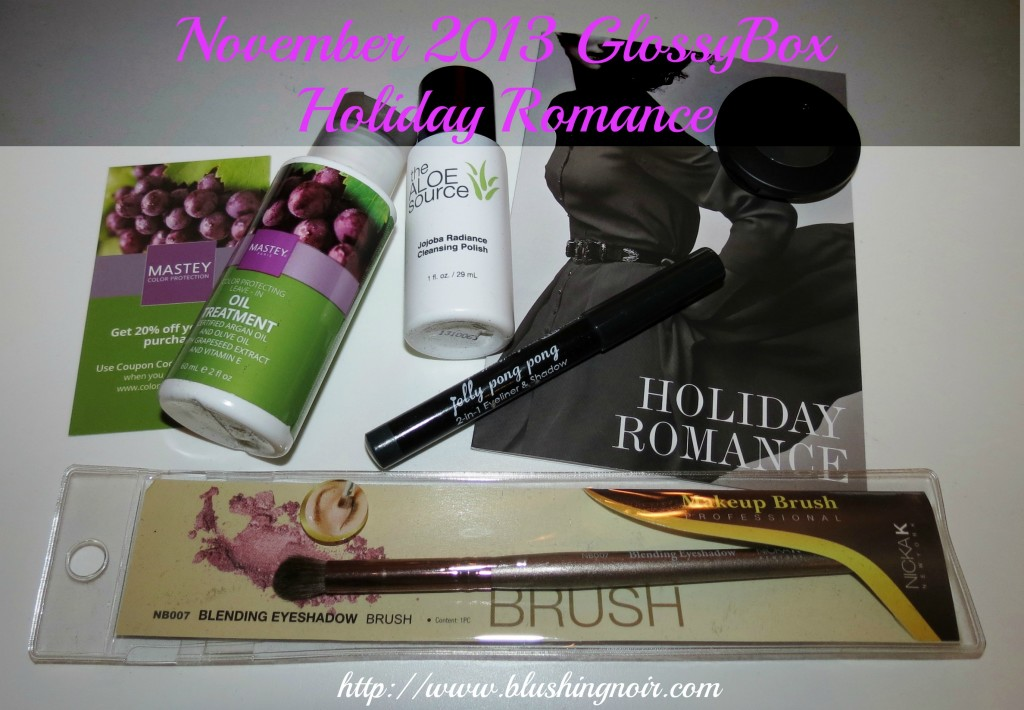 november 2013 glossybox holiday romance products