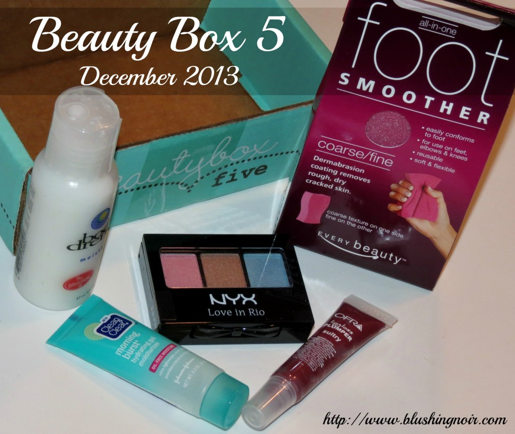 Beauty Box 5 December 2013 Review Swatches