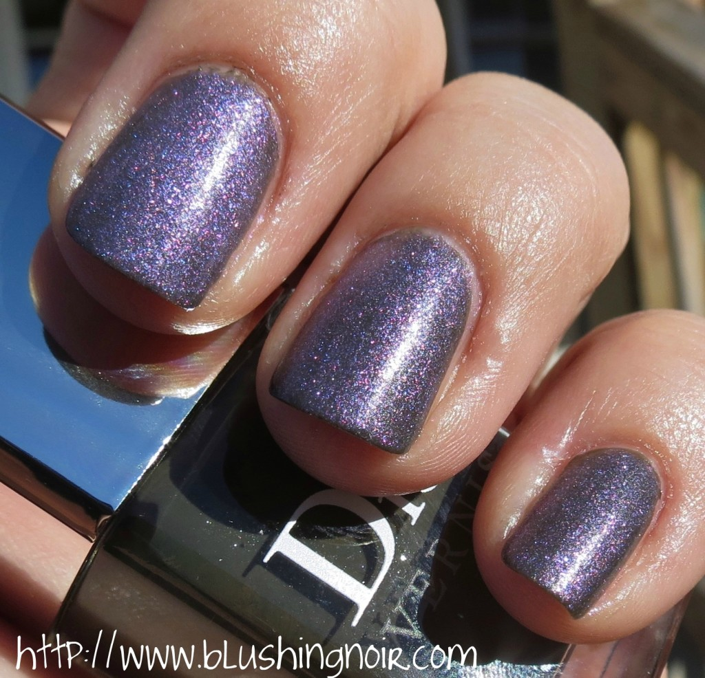 Dior Vernis 187 Perle Nail Polish over Amazonia swatches