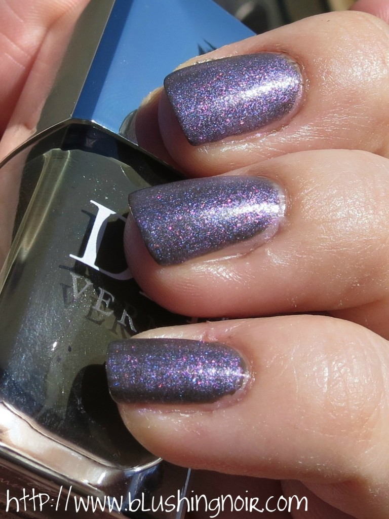 Dior Vernis 187 Perle Nail Polish over Amazonia swatches 2