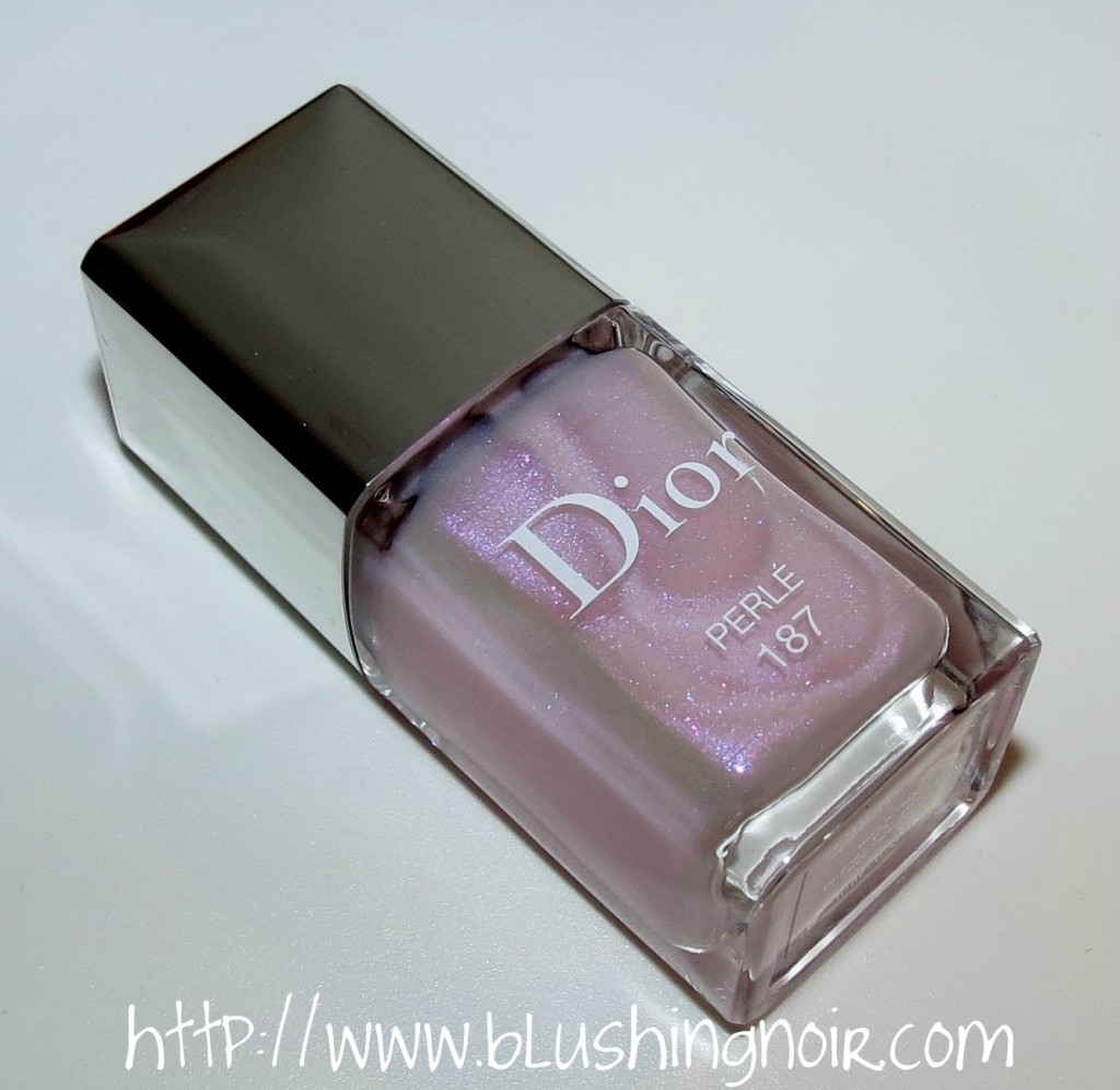 Dior Vernis Frosted Effect Nail Polish 187 Perle Spring 2014 bottle