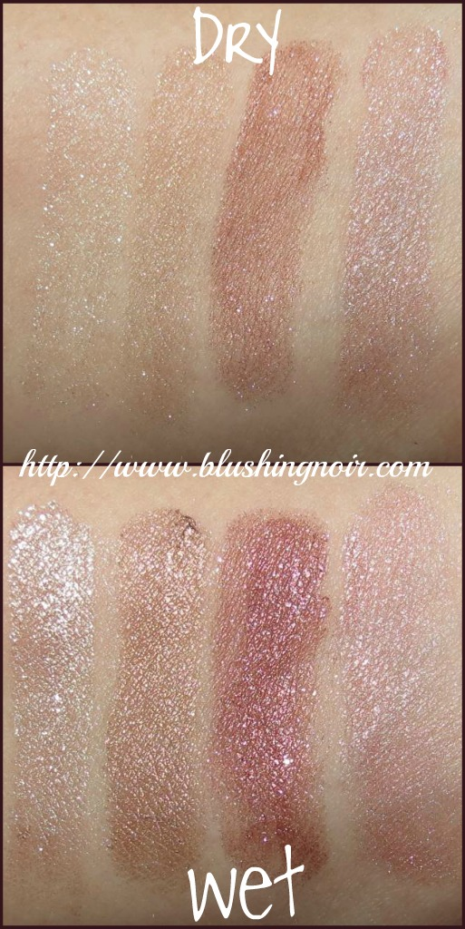 Hard Candy Pink Interlude Mod Quad Eye Shadow Palette swatches