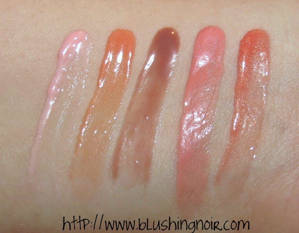 Laura Mercier Bare Nudes Mini Lip Glacé Set swatches