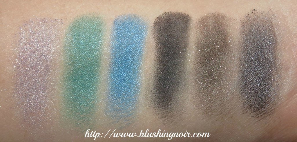 MAC Antonio Lopez 6 Eyes Palette Teal Swatches