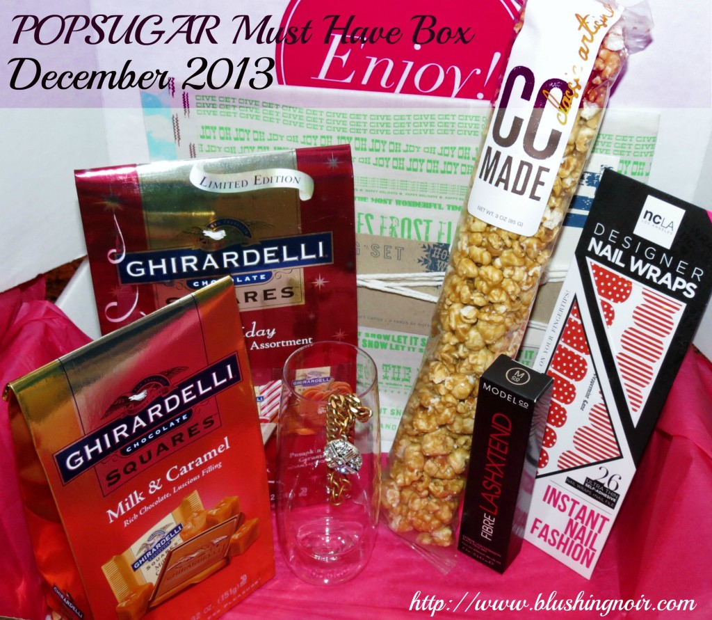 POPSUGAR Must Have Box December 2013 review