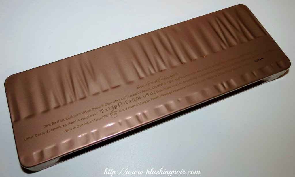 urban Decay Naked 3 Palette box 2