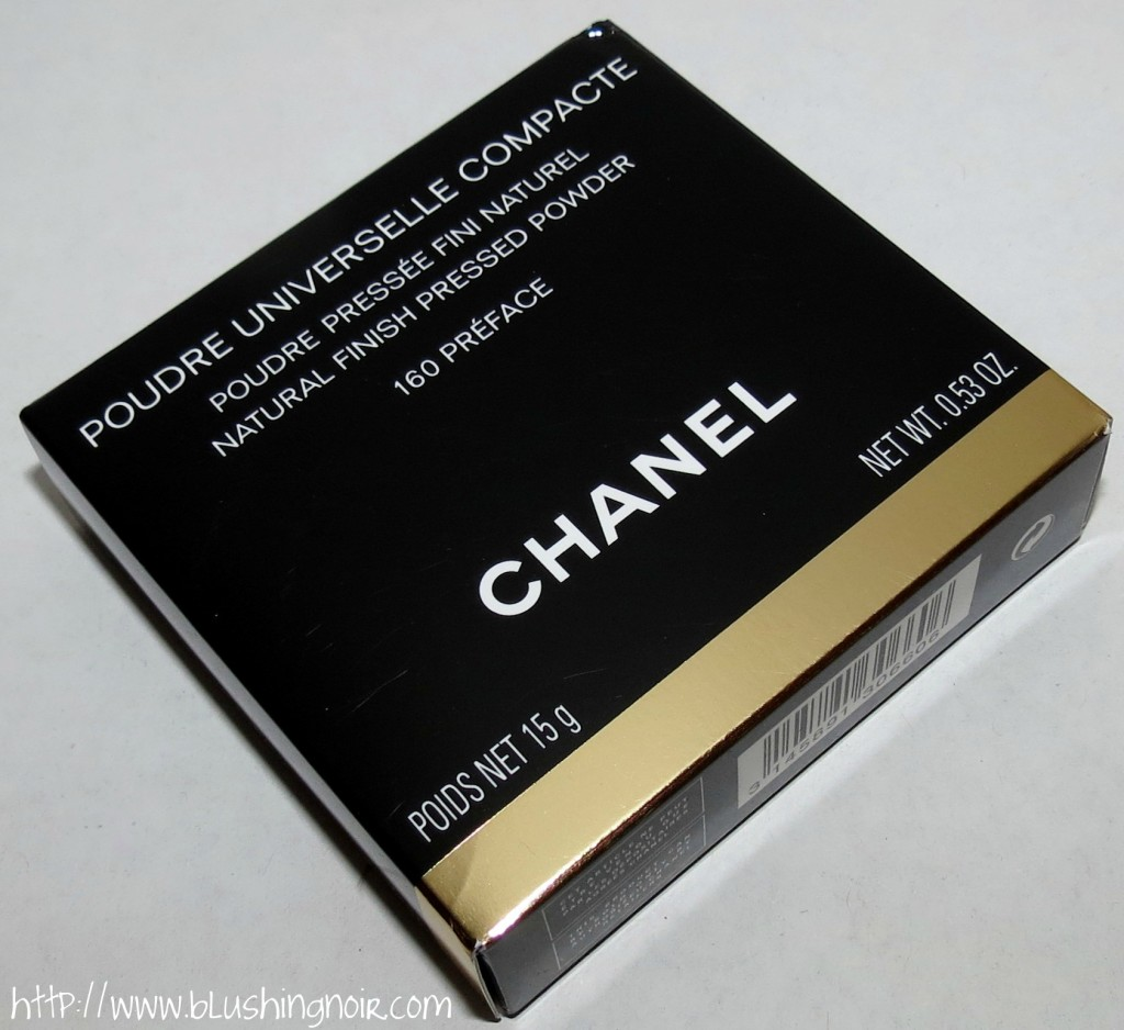 Chanel 160 PREFACE Poudre Universelle Compacte Natural Finish Pressed Powder box