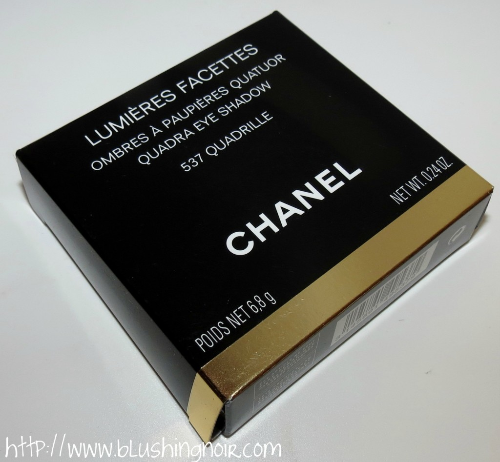 Chanel 537 Quadrille Les 4 Ombres Quadra Eyeshadow Palette box