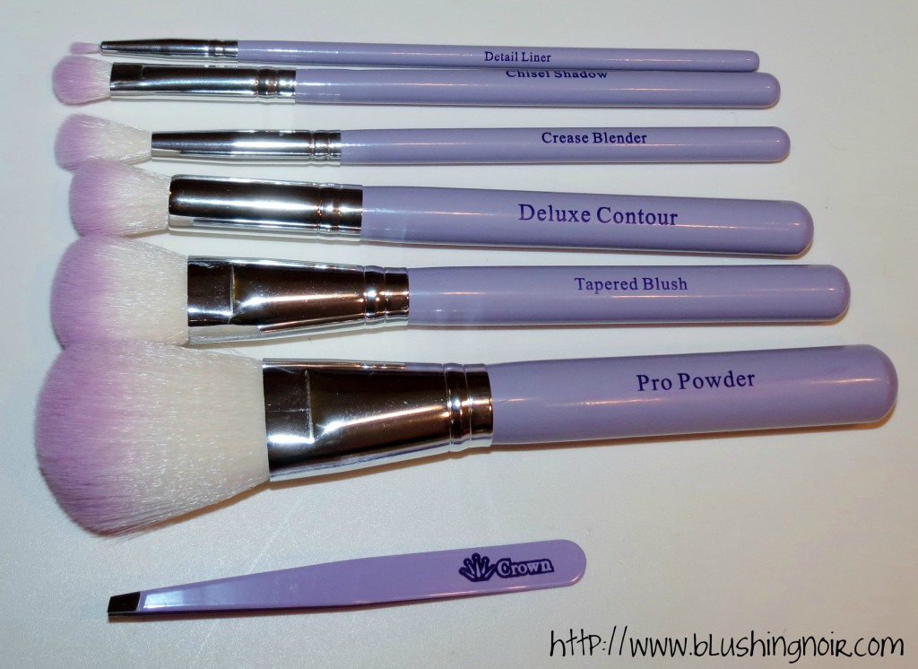 Crown Brush HD Set w Mirror and Tweezer Set review