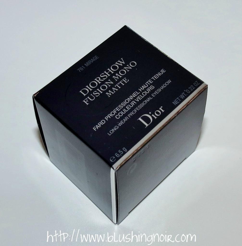 Dior 761 MIRAGE Diorshow Fusion Mono Matte Eyeshadow box