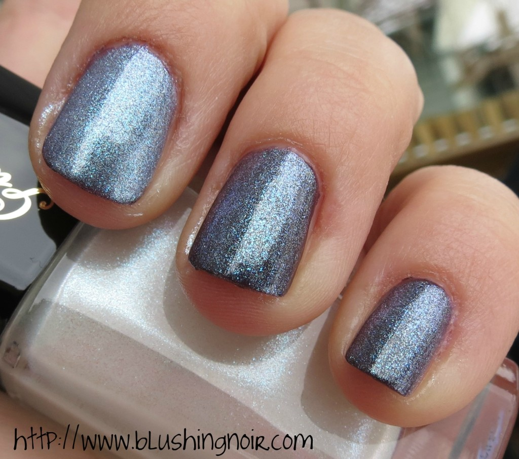 Guerlain Star Dust Nail Lacquer over Chanel Charivari