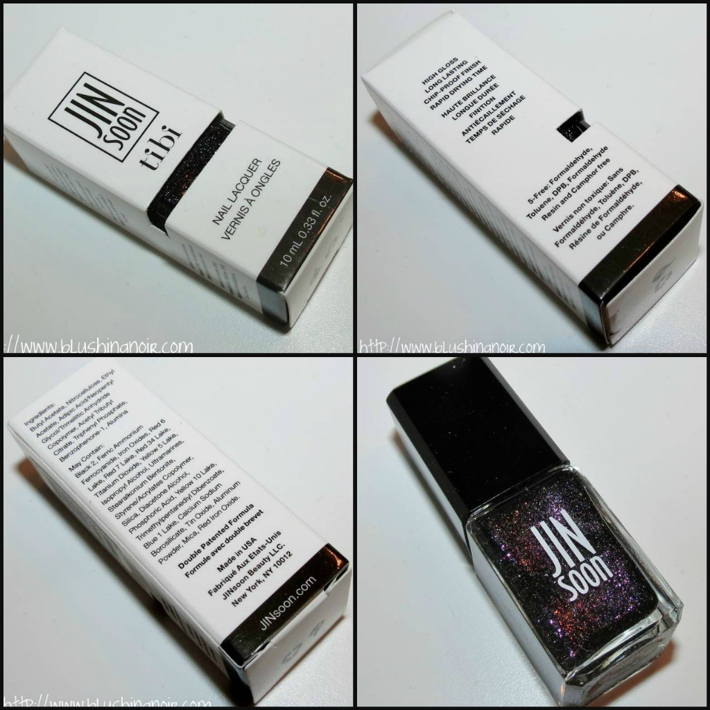 JINsoon OBSIDIAN Nail Lacquer Swatches Review Tibi Collection