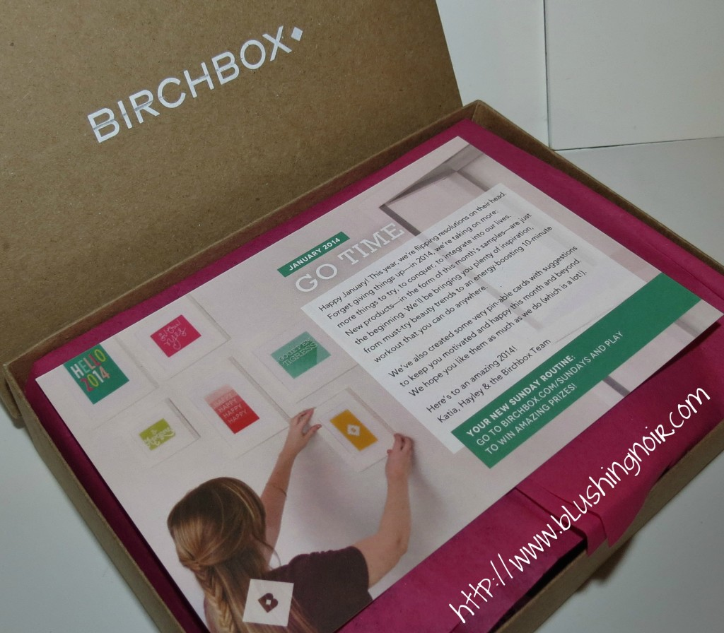 January 2014 Birchbox Go Time