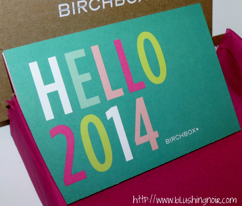 January 2014 Birchbox cards