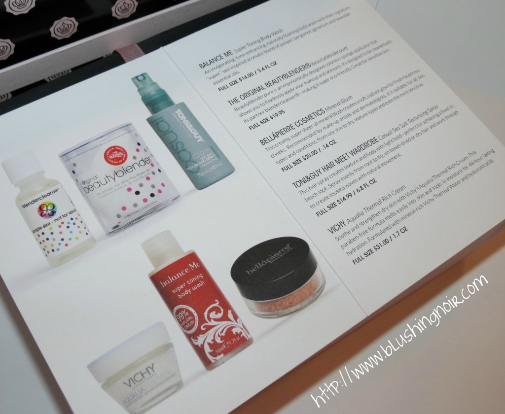 January 2014 GlossyBox contents Review