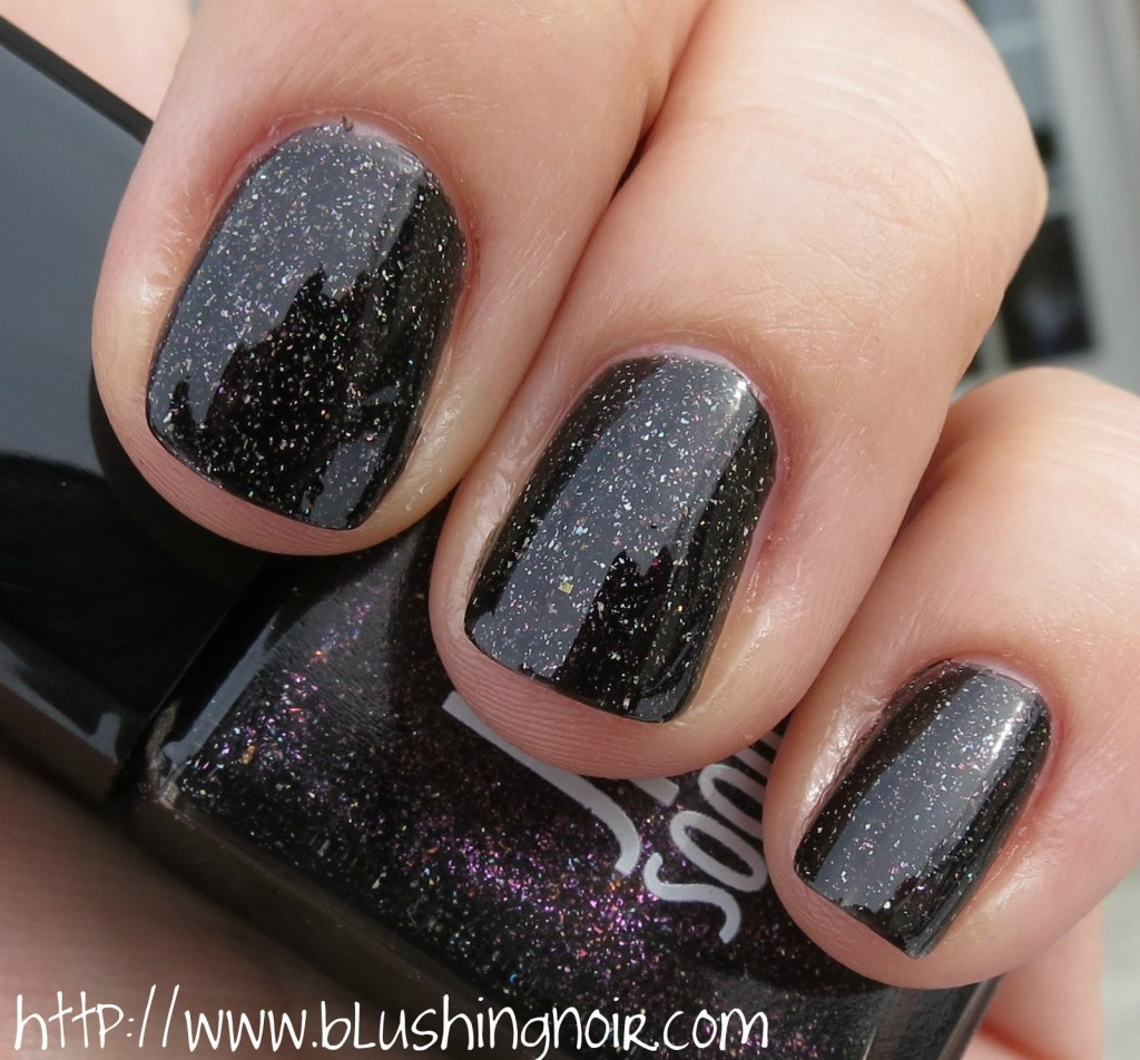 Jin Soon Obsidian Nail Lacquer swatches 2