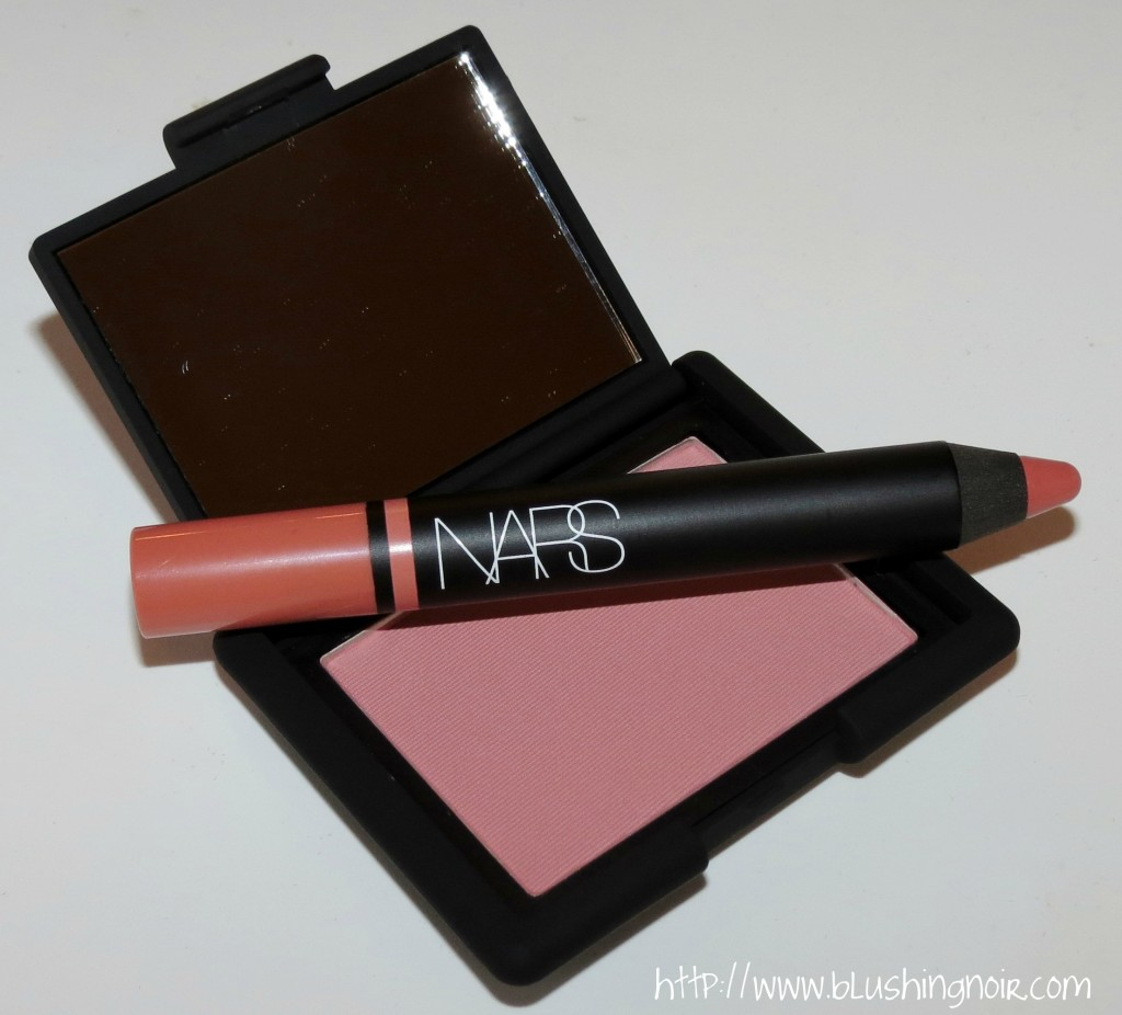 NARS Love Blush & Descanso Satin Lip Pencil Swatches Review 3